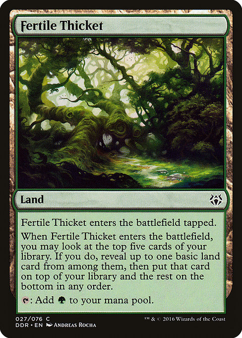 Fertile Thicket (DDR)