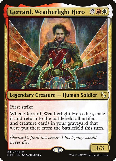 Gerrard, Weatherlight Hero (C19)