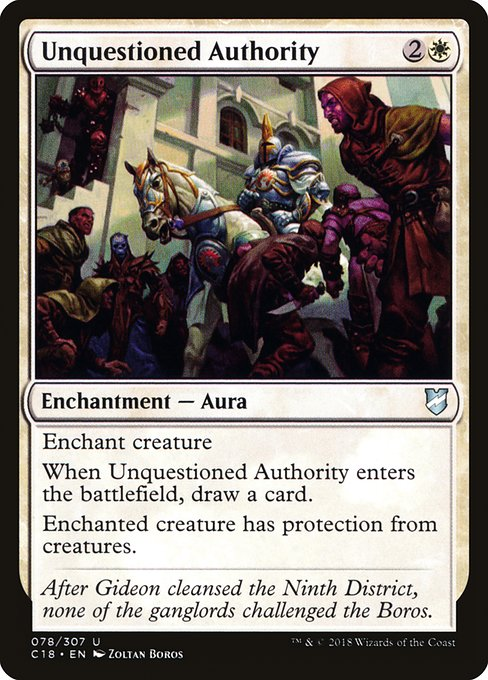 Unquestioned Authority (C18)