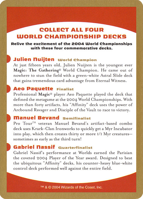 2004 World Championships Ad (WC04)