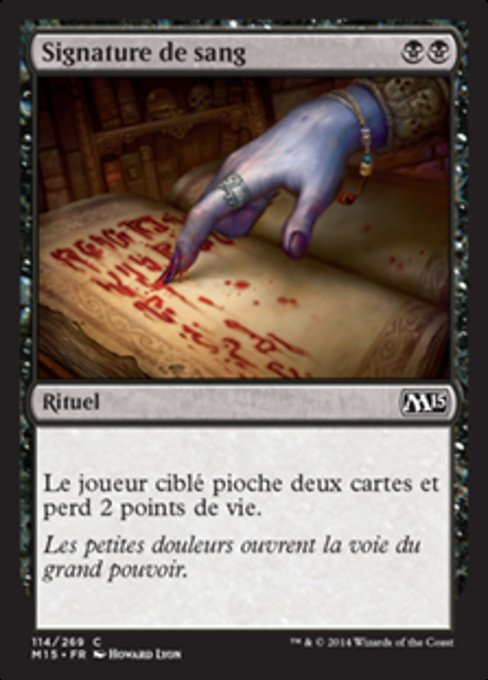 Sign in Blood (M15)