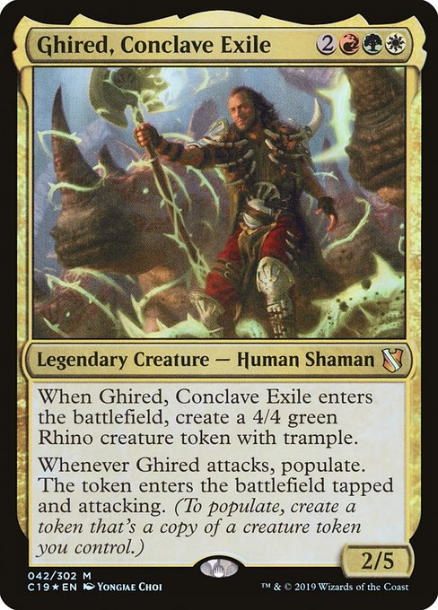 Ghired, Conclave Exile (C19)