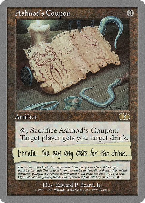 Ashnod's Coupon (UGL)