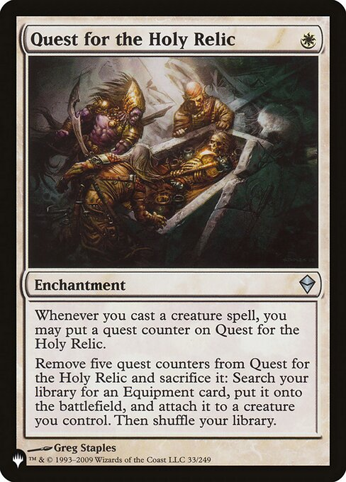 Quest for the Holy Relic (PLIST)