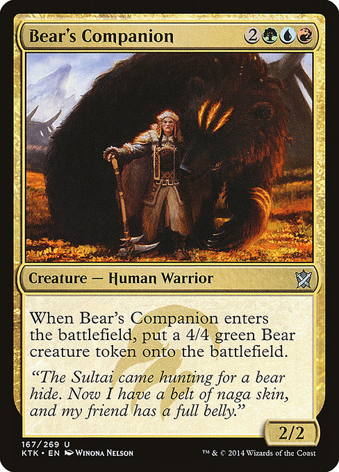 Bear's Companion (KTK)