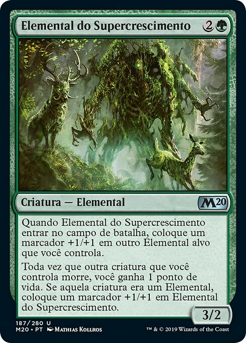 Overgrowth Elemental (M20)