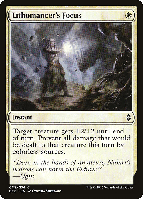 Lithomancer's Focus (BFZ)