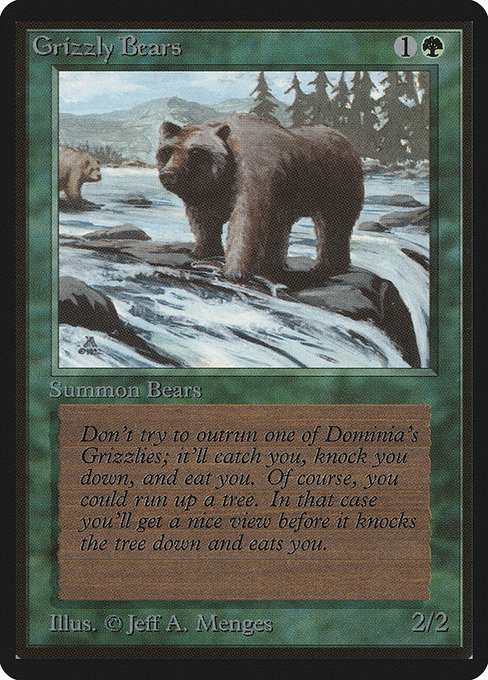 Grizzly Bears - Limited Edition Beta