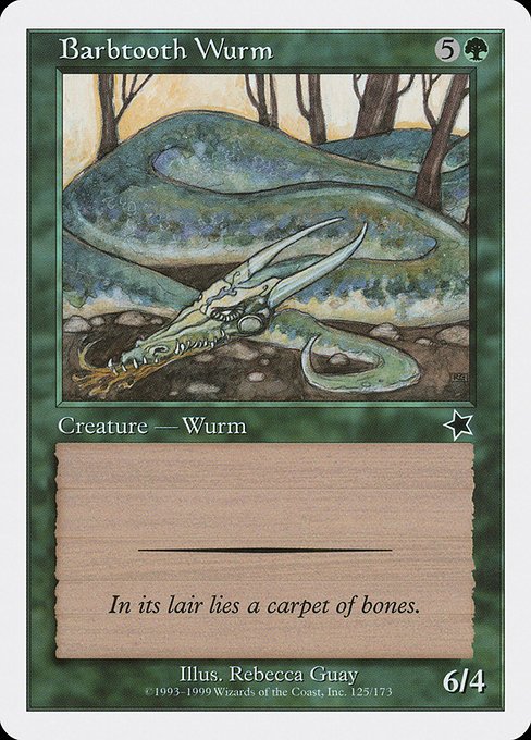 Barbtooth Wurm (S99)