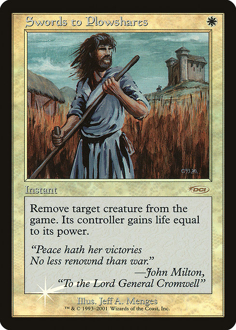 Swords to Plowshares (F01)