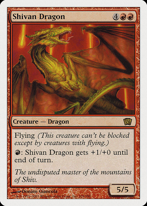 Shivan Dragon (8ED)