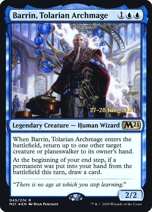 Barrin, Tolarian Archmage (PM21)