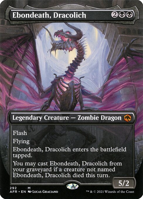 Ebondeath, Dracolich (Extended Art)