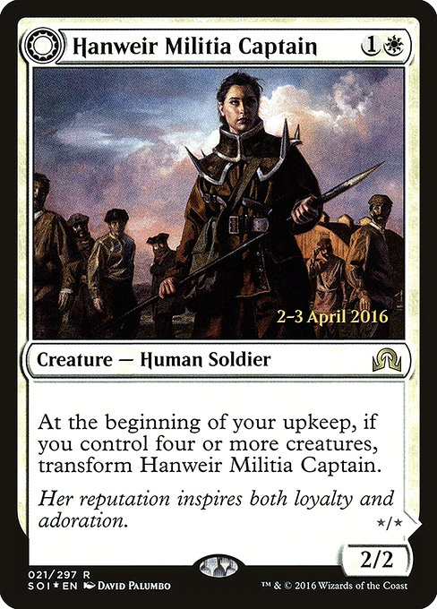 Hanweir Militia Captain // Westvale Cult Leader (PSOI)