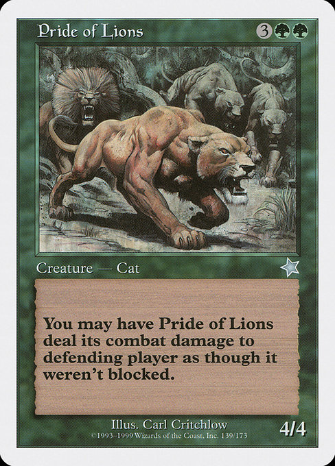 Pride of Lions (S99)