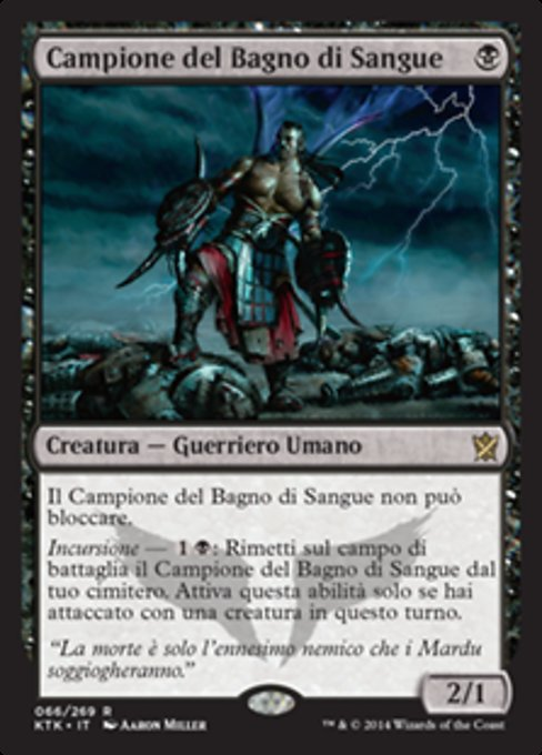 Bagno Di Sangue.Campione Del Bagno Di Sangue Bloodsoaked Champion Khans Of Tarkir Ktk 66 Scryfall Magic The Gathering Search