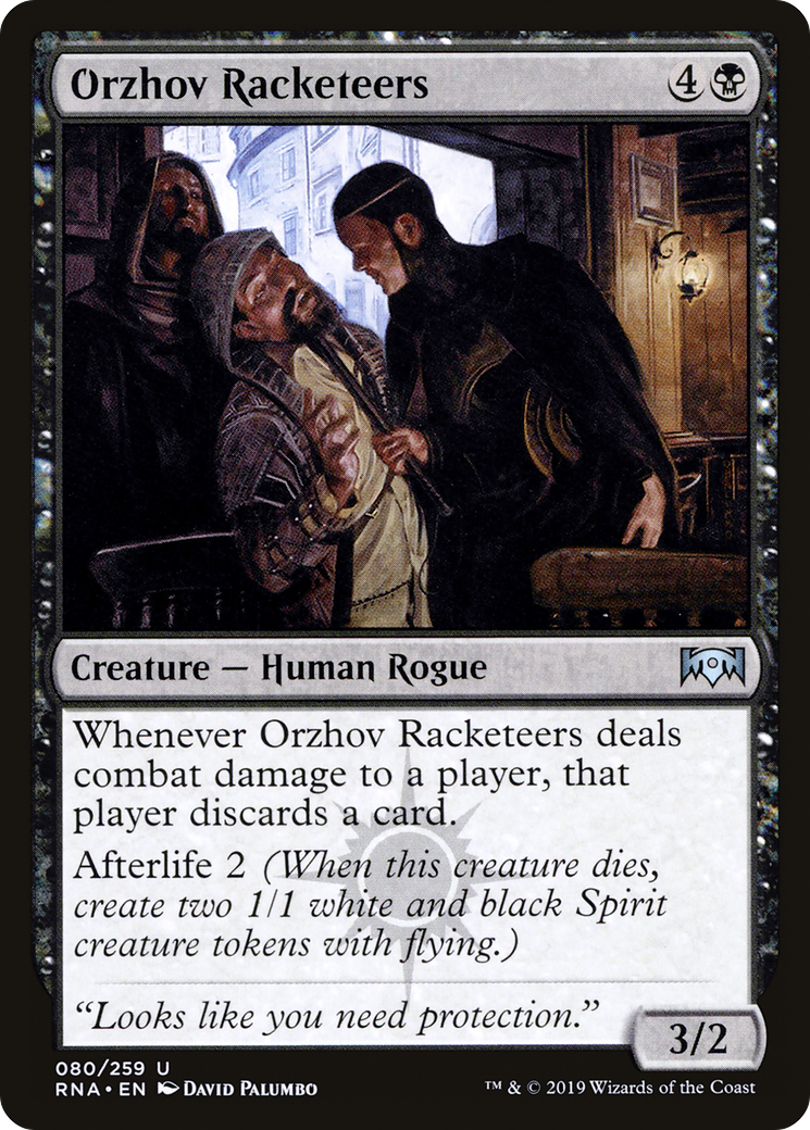 Orzhov Racketeers Ravnica Allegiance Rna 80 Scryfall Magic The Gathering Search We have published more than 7306 standard decks in the top standard orzhov humans decks. orzhov racketeers ravnica allegiance