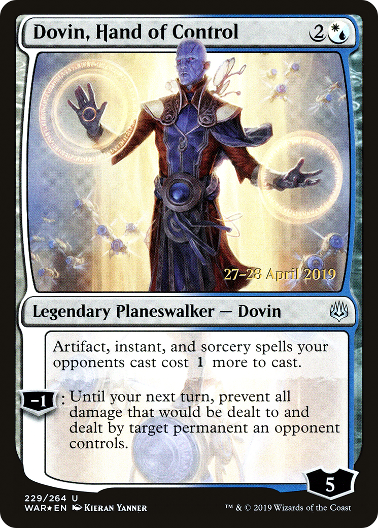 Hand of Control War of the Spark Magic the Gathering 4 x Dovin