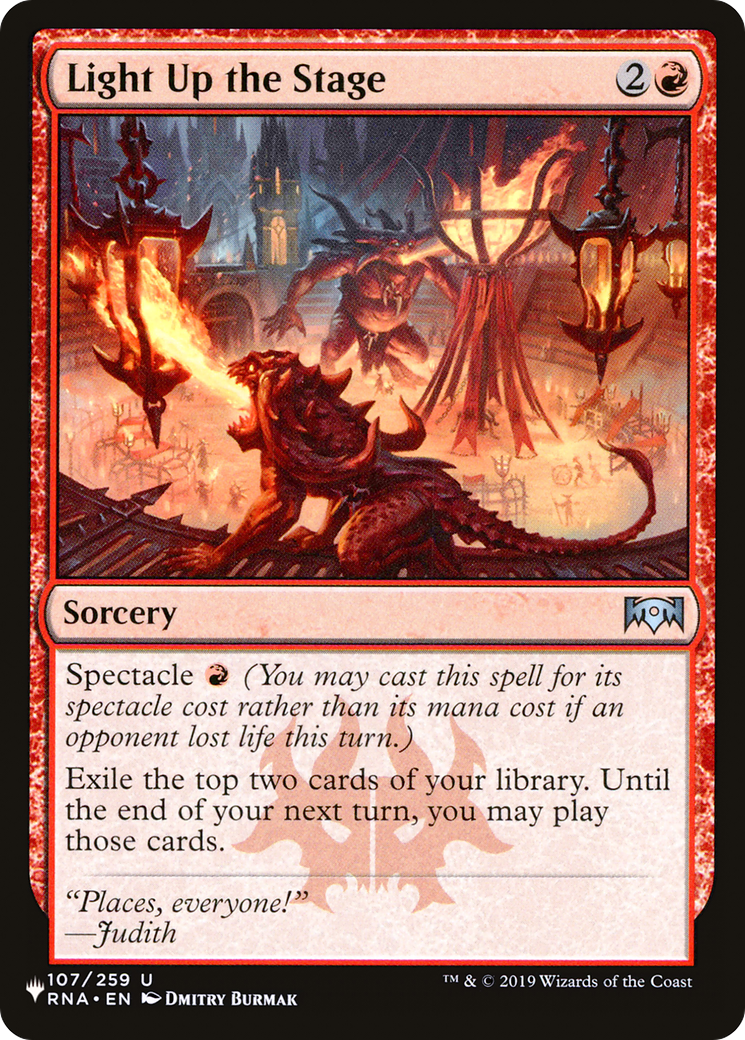 Light Up The Stage The List Plist 144 Scryfall Magic The Gathering Search