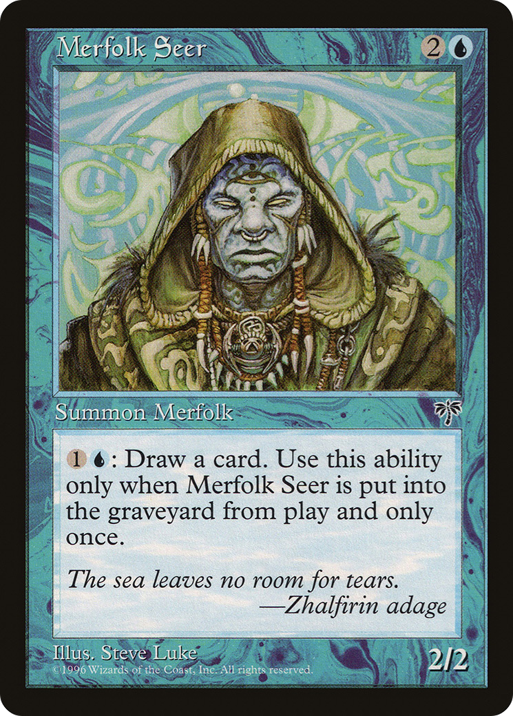 Merfolk Seer Mirage Mir 76 Scryfall Magic The Gathering Search