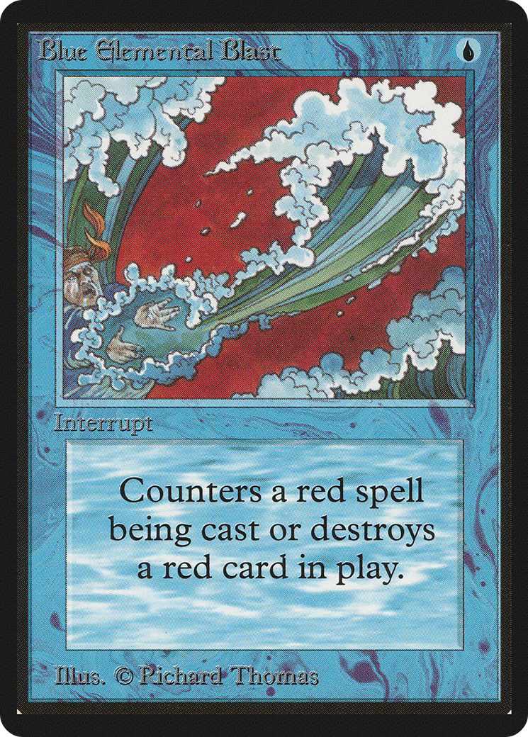 MTG 4x RED ELEMENTAL BLAST Revised *Red Spell Counter Blue*