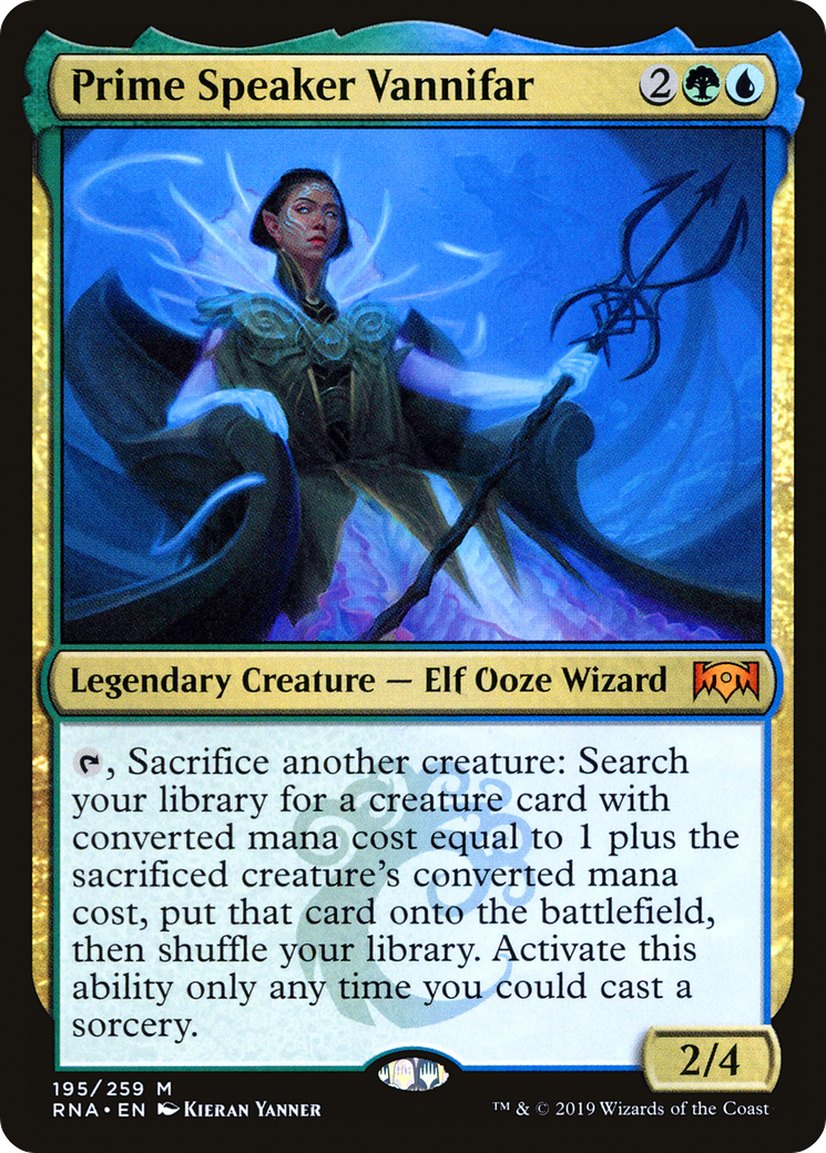 {T}, Sacrifice another creature: Search your library for a creature card with converted mana cost equal to 1 plus the sacrificed creature's converted mana cost, put that card onto the battlefield, then shuffle your library. Activate this ability only any time you could cast a sorcery.