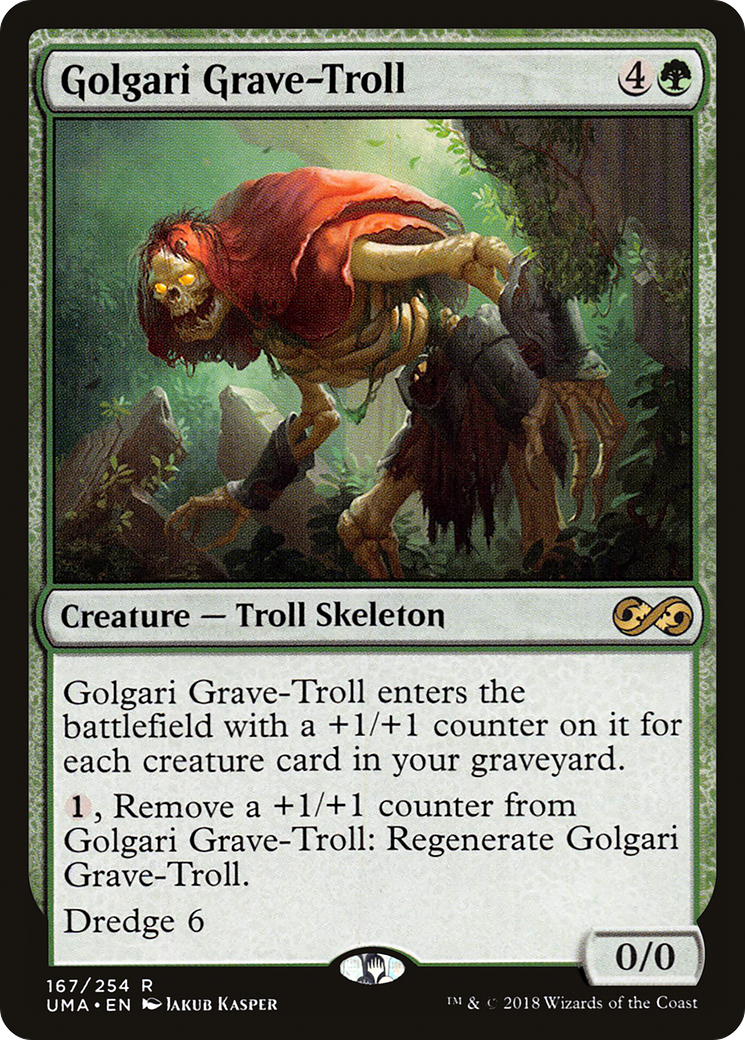 Ravnica: City of Guilds Golgari Grave-Troll Lightly Played