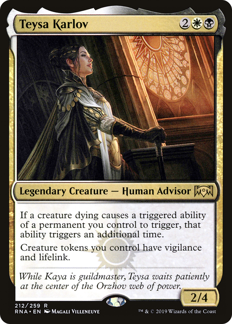 Teysa Karlov Ravnica Allegiance Rna 212 Scryfall Magic The Gathering Search Submitted 18 hours ago * by disclaimer: teysa karlov ravnica allegiance