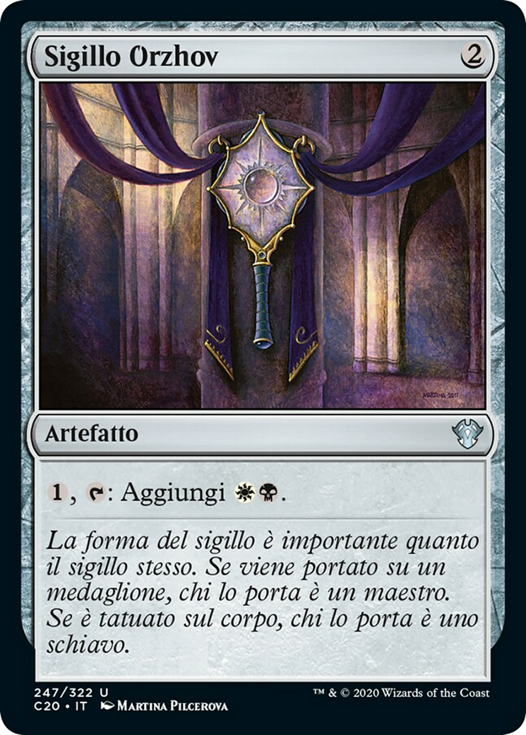Sigillo Orzhov Orzhov Signet Commander 2020 C20 247 Scryfall Magic The Gathering Search Her low cost of 4 mana total can get her out early and if you have good sac outlets and cards with death triggers you can be doing so much at once. scryfall