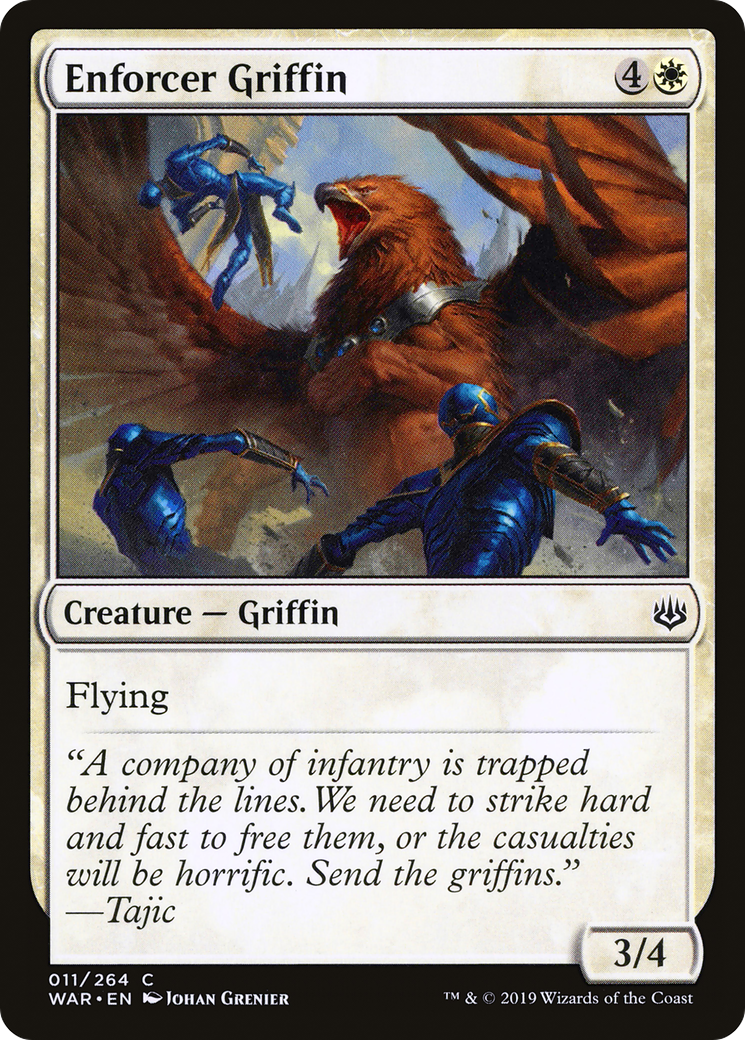 4 x Enforcer Griffin - War of the Spark Common 011//264