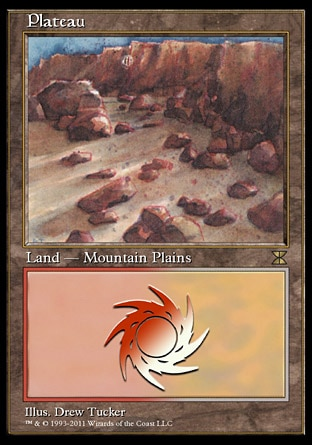 Plateau (0, ) \nLand  — Mountain Plains\n\nMasters Edition IV: Rare, Masters Edition III: Rare, Revised Edition: Rare, Unlimited Edition: Rare, Limited Edition Beta: Rare, Limited Edition Alpha: Rare\n\n