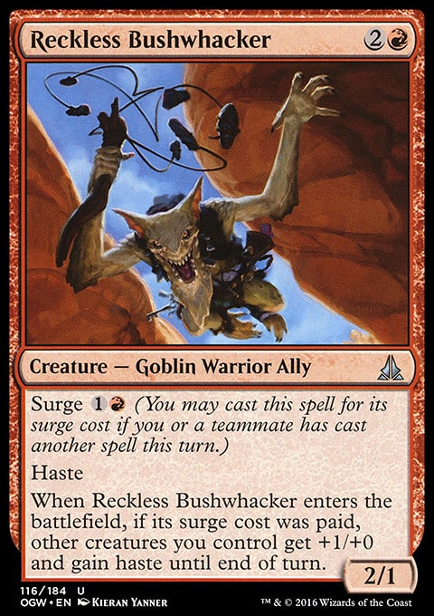 Reckless Bushwhacker from magiccards.info