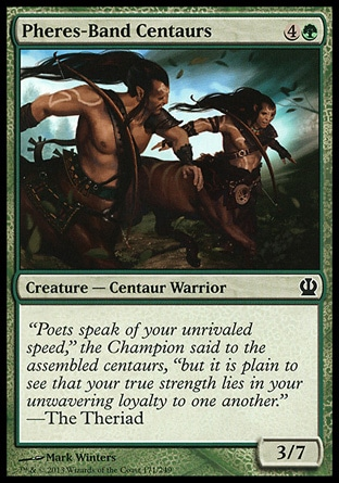 Pheres-Band Centaurs (5, 4G) 3/7\nCreature  — Centaur Warrior\n\nTheros: Common\n\n