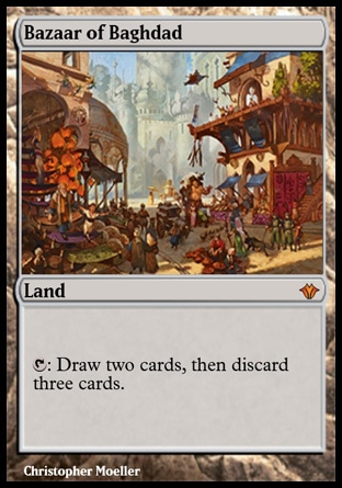 graphic relating to Printable Mtg Proxies named Bazaar of Baghdad (Classic Masters)